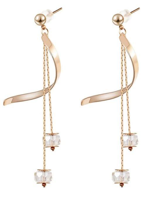 YAYACH Long crystal thin temperament Tassel Earrings 1