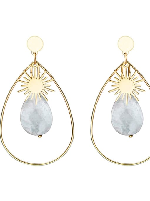 YAYACH Inlaid fashion Sun Star Earrings 3