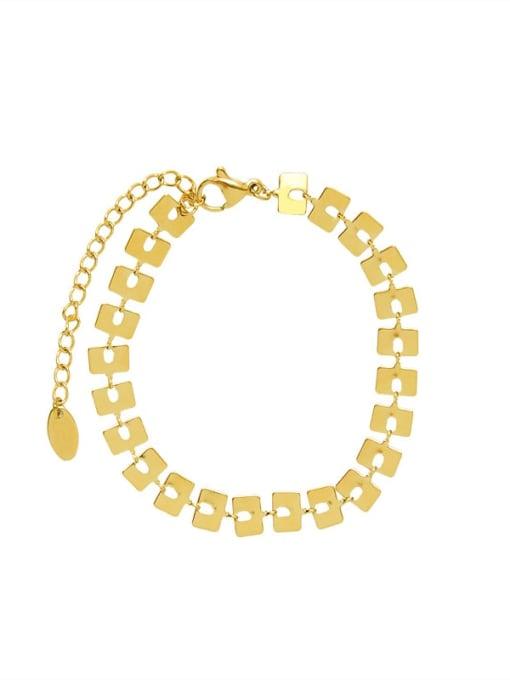 MAKA Titanium Steel Geometric Minimalist Link Bracelet