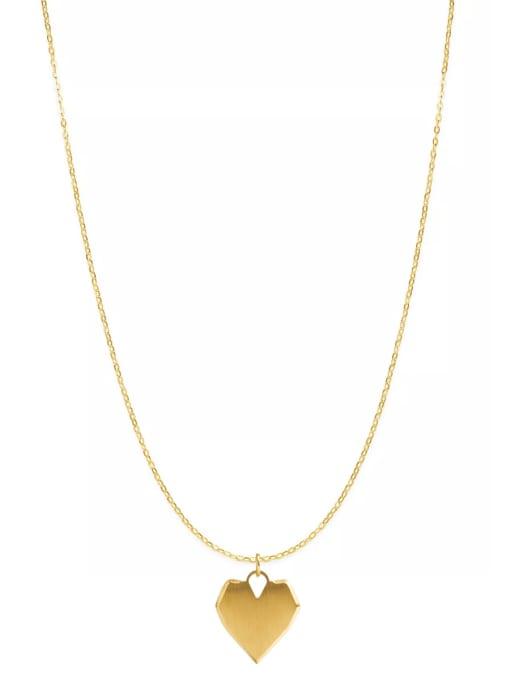 YAYACH Love pendant niche design titanium steel necklace 0
