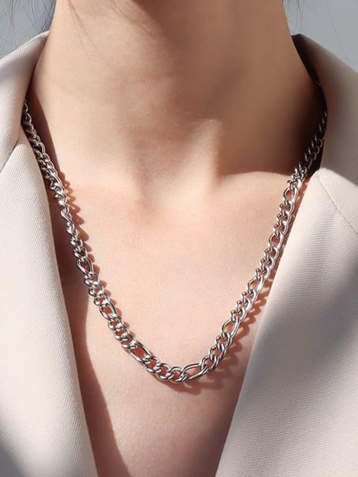Steel medium Titanium Steel Geometric Vintage Multi Strand Necklace