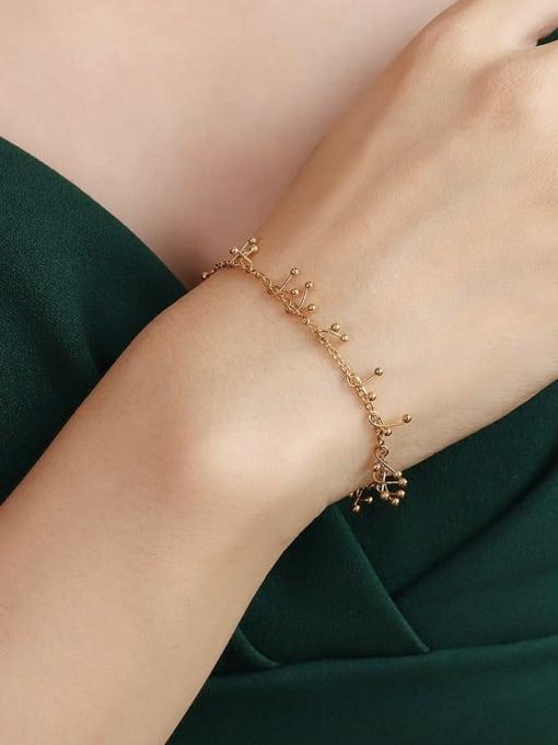 E098 gold bracelet 15 +5cm Titanium Steel Vintage Tassel Braclete and Necklace Set