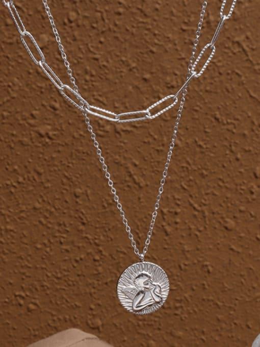 Steel Titanium Steel Geometric Vintage Multi Strand Necklace