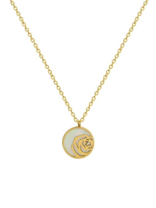 MAKA Titanium Steel Shell Geometric Vintage Necklace