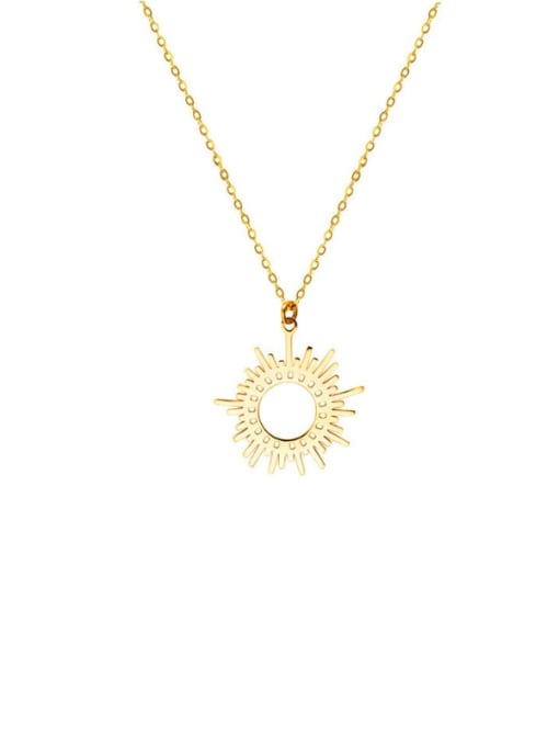 YAYACH Six Pointed Sun Clavicle Titanium Steel Necklace 1