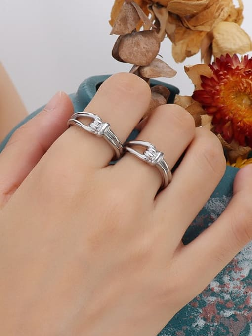 A252 steel ring Titanium Steel Irregular Vintage Band Ring