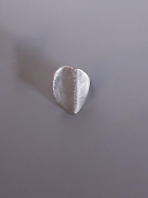 Steel color US 7 Titanium Steel Geometric Vintage Band Ring