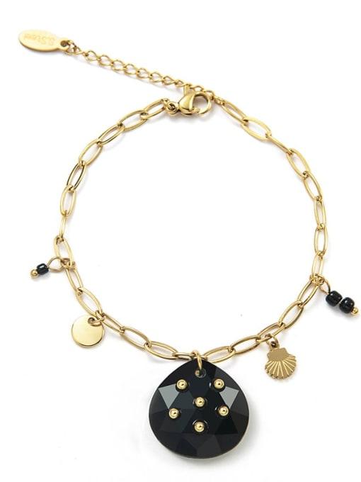 YAYACH Stainless steel Heart Trend Link Bracelet