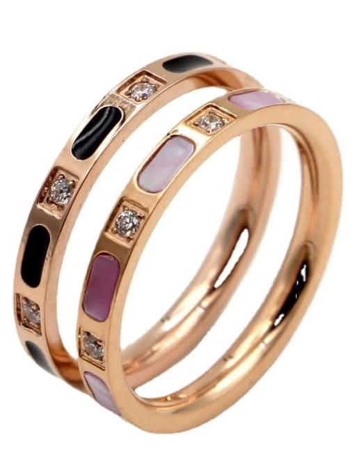 K.Love Titanium Steel Shell Geometric Minimalist Band Ring 4