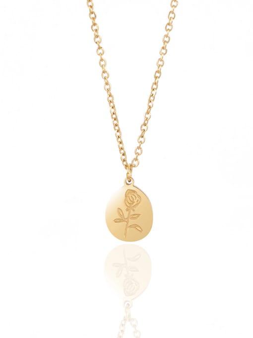 gold Light luxury rose flower ins style earrings necklace