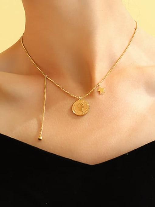 MAKA Titanium Steel Tassel Minimalist Necklace 1