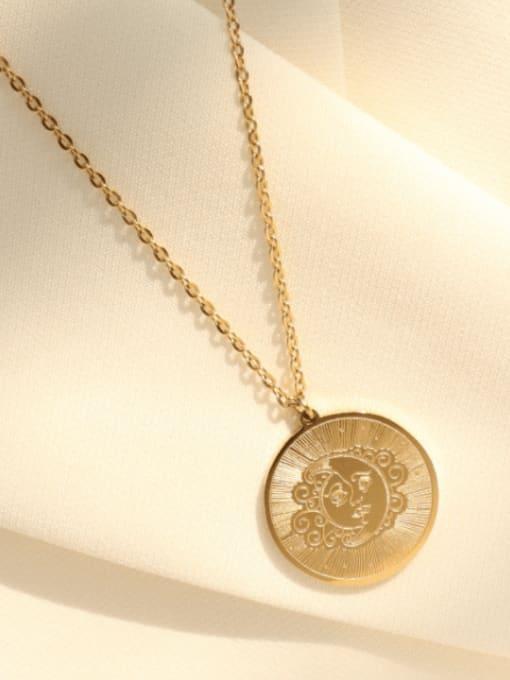 MAKA Titanium Steel Geometric Vintage Necklace 3