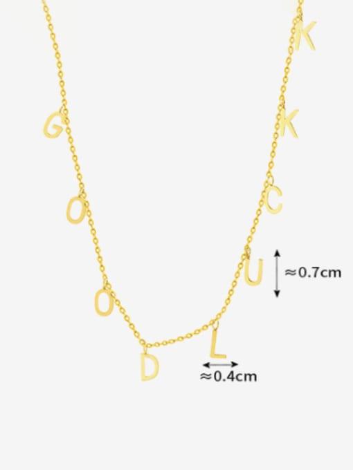 MAKA Titanium Steel Letter Minimalist Necklace 2