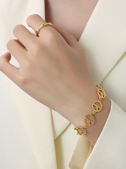 MAKA Titanium Steel Hollow Geometric Minimalist Bracelet 1