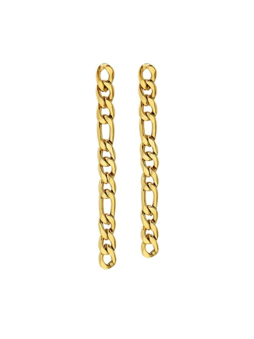 MAKA Titanium Steel Geometric Chain Minimalist Drop Earring 0
