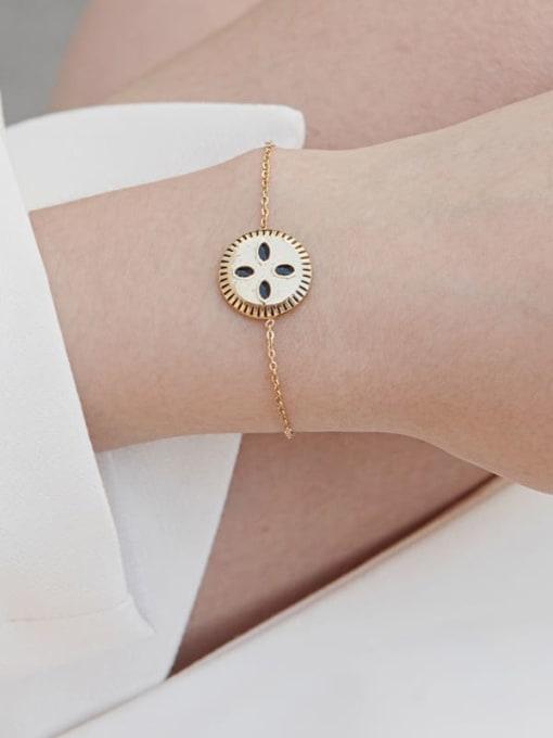 YAYACH Stainless steel Enamel Round Trend Link Bracelet 2