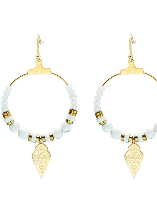 YAYACH Geometric natural stone foreign trade new Bohemian style earrings 0