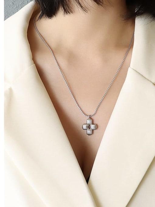 Steel necklace 50 5cm Titanium Steel Cross Vintage Necklace
