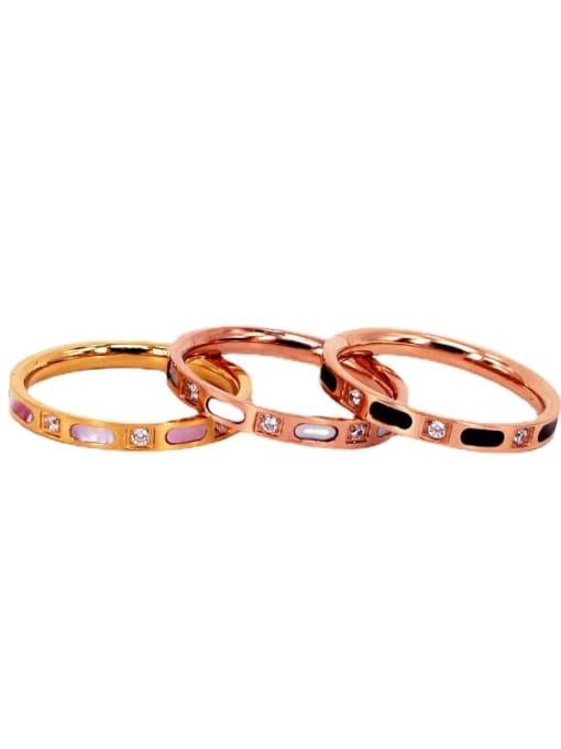K.Love Titanium Steel Shell Geometric Minimalist Band Ring 0
