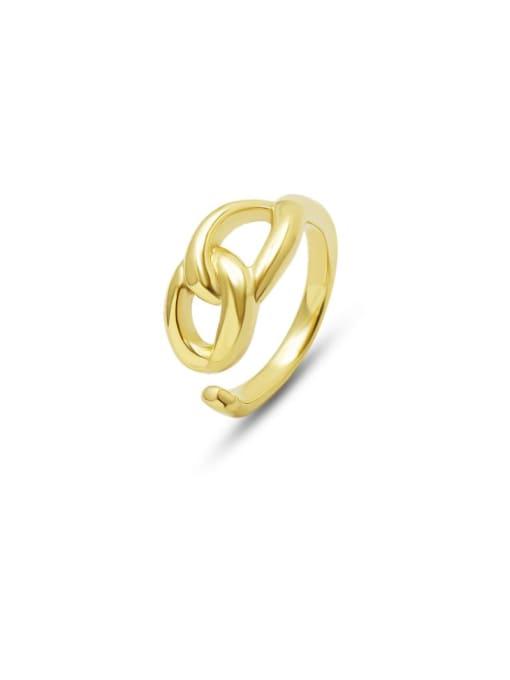 MAKA Titanium Steel  Hollow Geometric Minimalist Band Ring