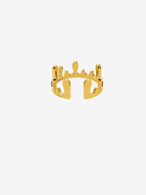 MAKA Titanium Steel Smooth Crown Cute Band Ring 0