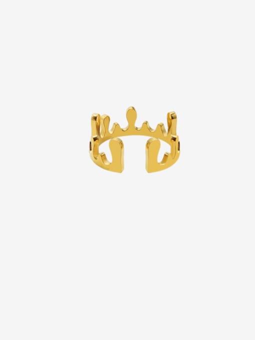 MAKA Titanium Steel Smooth Crown Cute Band Ring