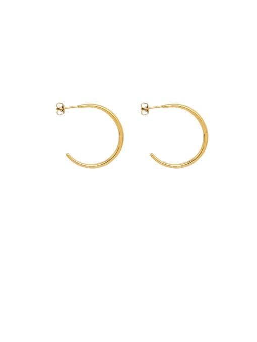 Gold (0.2MM) Titanium Steel C shape Minimalist Hoop Earring