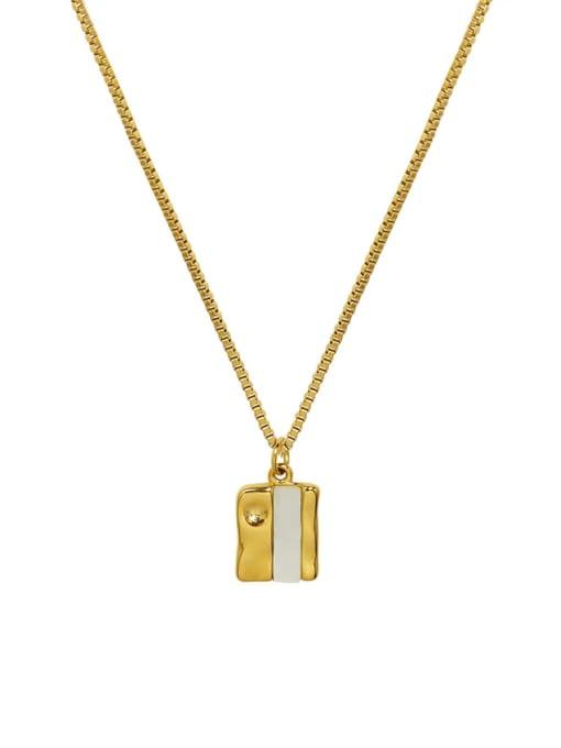 P1094 GOLD 40+ 5cm Titanium Steel Shell Geometric Hip Hop Necklace