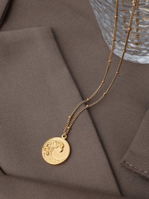 MAKA Titanium Steel Geometric Vintage Necklace 1