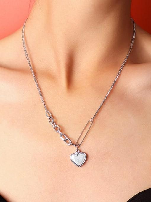 MAKA Titanium Steel Heart Vintage Necklace 1