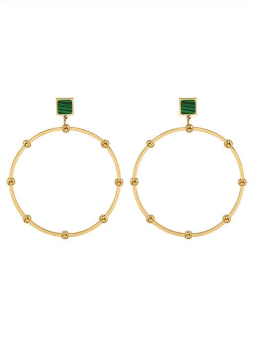 gold Titanium Steel Acrylic Geometric Minimalist Drop Earring