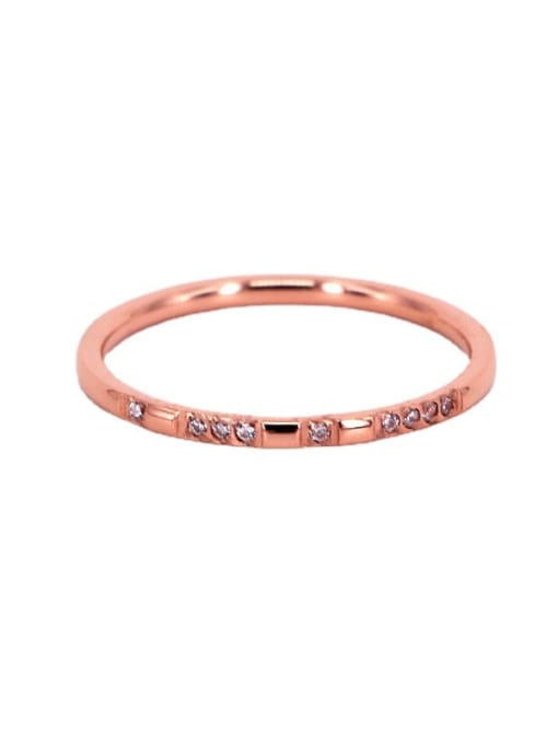 K.Love Titanium Steel Cubic Zirconia Geometric Minimalist Band Ring 4