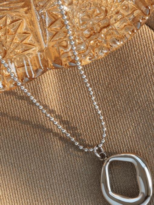 Steel  40+5cm Titanium Steel Bead Chain  Vintage Irregular Pendant Necklace