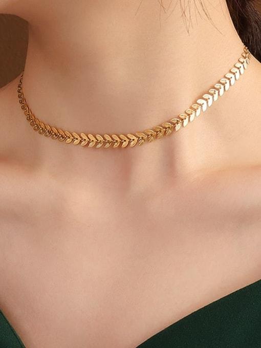 MAKA Titanium Steel Imitation Pearl Vintage Irregular Earring and Necklace Set 3