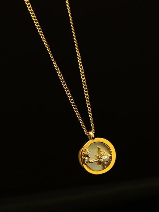 MAKA Titanium Steel Shell Geometric Minimalist Necklace