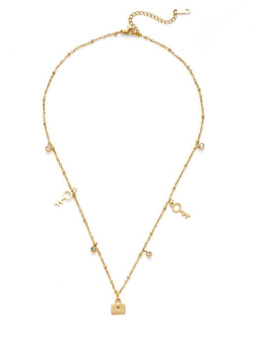 YAYACH Creative key lock pendant necklace 0