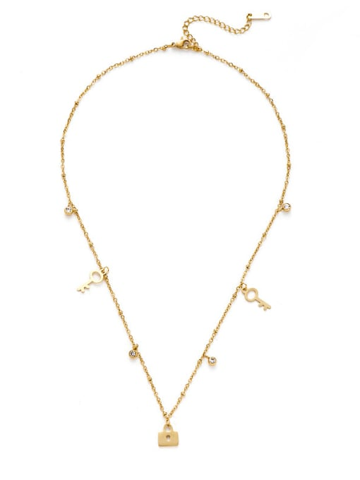YAYACH Creative key lock pendant necklace