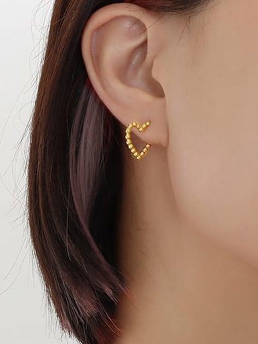 MAKA Titanium Steel Heart Minimalist Stud Earring 1
