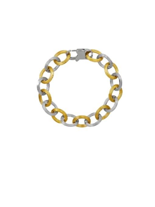 E243 embossed Bracelet 19cm Titanium Steel  Hip Hop Geometric Earring and Bangle Set