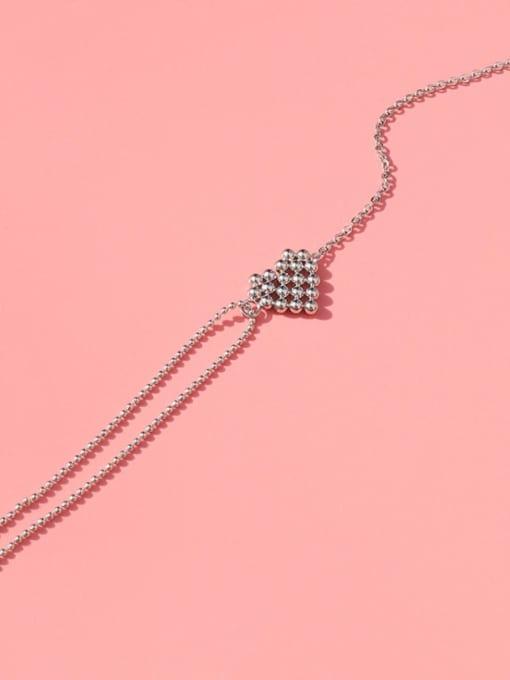 MAKA Titanium Steel Bead Heart Vintage Link Bracelet 2