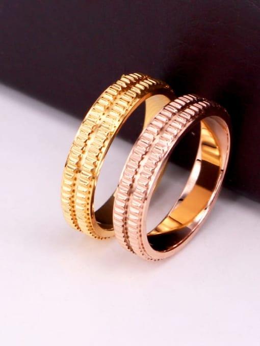 K.Love Titanium Steel Geometric Minimalist Band Ring 3