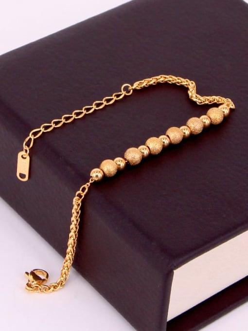 K.Love Titanium Steel Oval Minimalist Beaded Bracelet 2