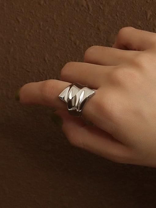 Steel ring Titanium Steel Irregular Artisan Band Ring