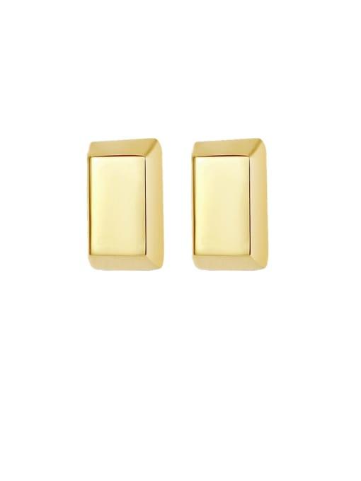 MAKA Titanium Steel Smooth Geometric Minimalist Stud Earring 0