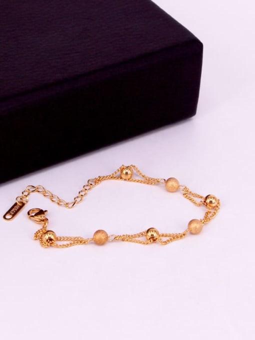 K.Love Titanium Steel Bead Round Minimalist Strand Bracelet 3