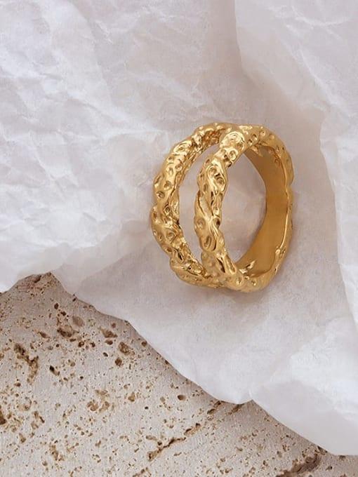 MAKA Titanium Steel Geometric Hip Hop Stackable Ring
