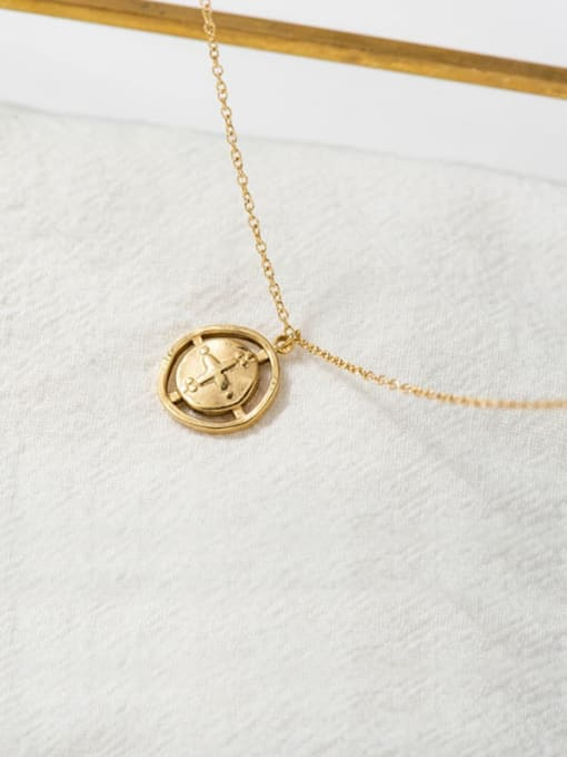 gold Cross Pendant Gold Retro All-match Thin Titanium Steel Necklace