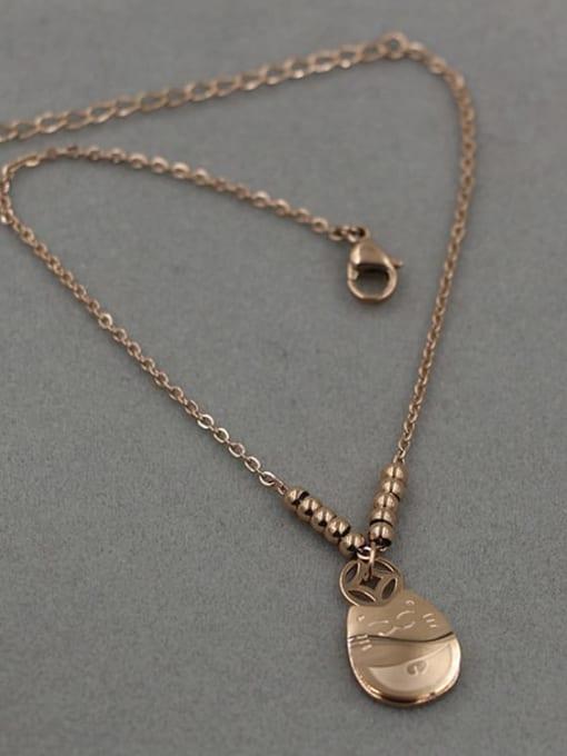K.Love Stainless steel  Rosary Minimalist Anklet 3