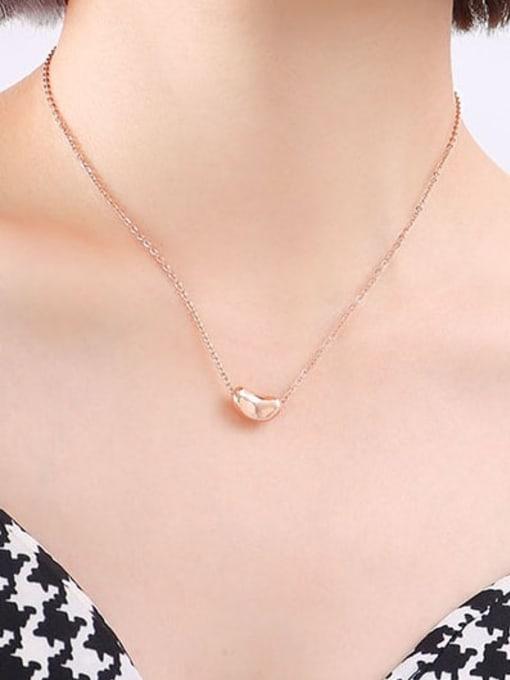 P338 rose 40 +5cm Titanium Steel Geometric Minimalist Necklace