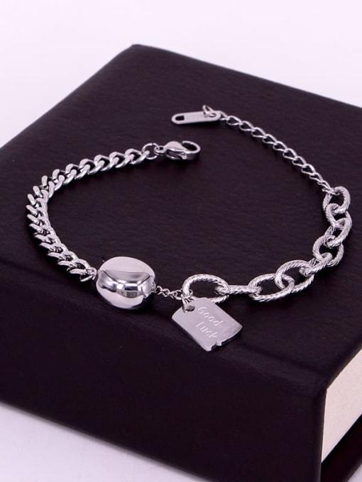 K.Love Titanium Steel Oval Vintage Link Bracelet 3